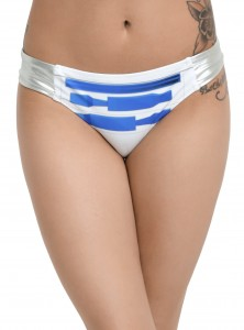Hot Topic - women's R2-D2 swim bottoms (front)