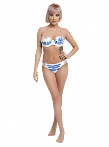 Hot Topic - women's R2-D2 swimwear set (top and bottom sold separately)
