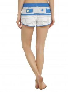 Hot Topic - women's R2-D2 swim shorts (back)
