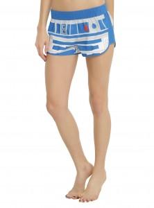 Hot Topic - women's R2-D2 swim shorts (front)