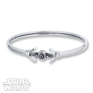 Kay Jewelers - Sterling Silver TIE Fighter bangle bracelet