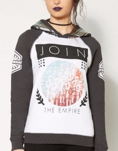 Spencers - women's Star Wars Join The Empire hoodie (front)