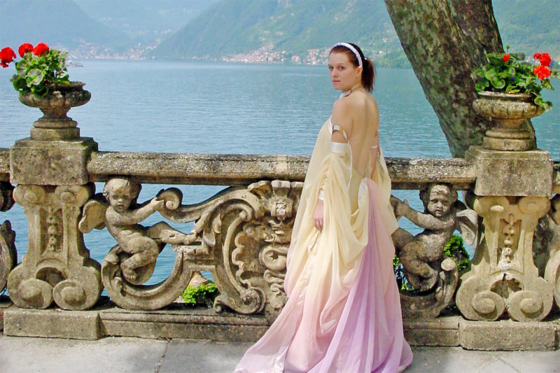 My Padme' Amidala 'Lake Retreat' costume on location in Italy