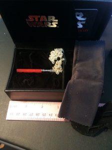 Noble Wealth - Darth Vader jade lightsaber necklace