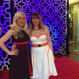Her Universe - Ashley (Kylo Ren dress) and Jennifer (BB-8 dress)