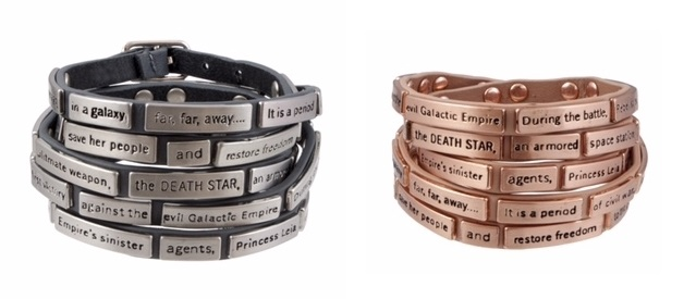 New Star Wars crawl wrap bracelets