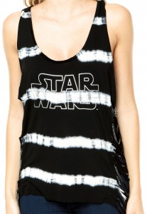 Triton - women's Star Wars tank top with shredded/chain side detail