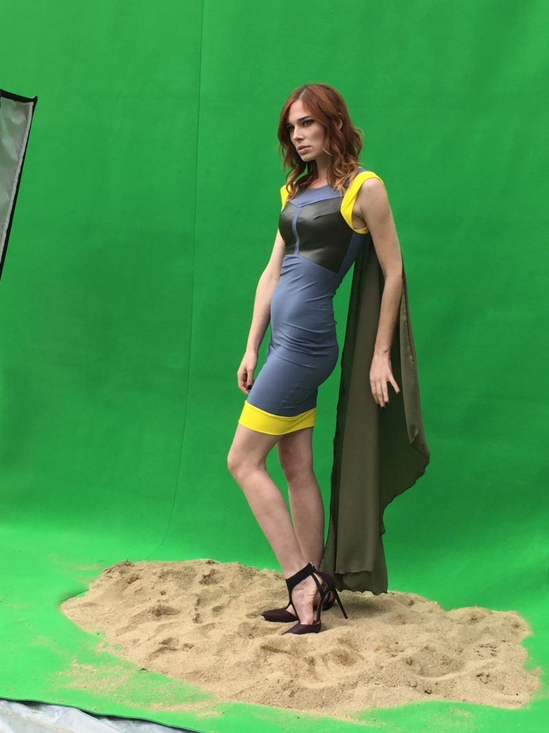 Elhoffer Design - Boba Fett dress (modelled by Chloe Dykstra)