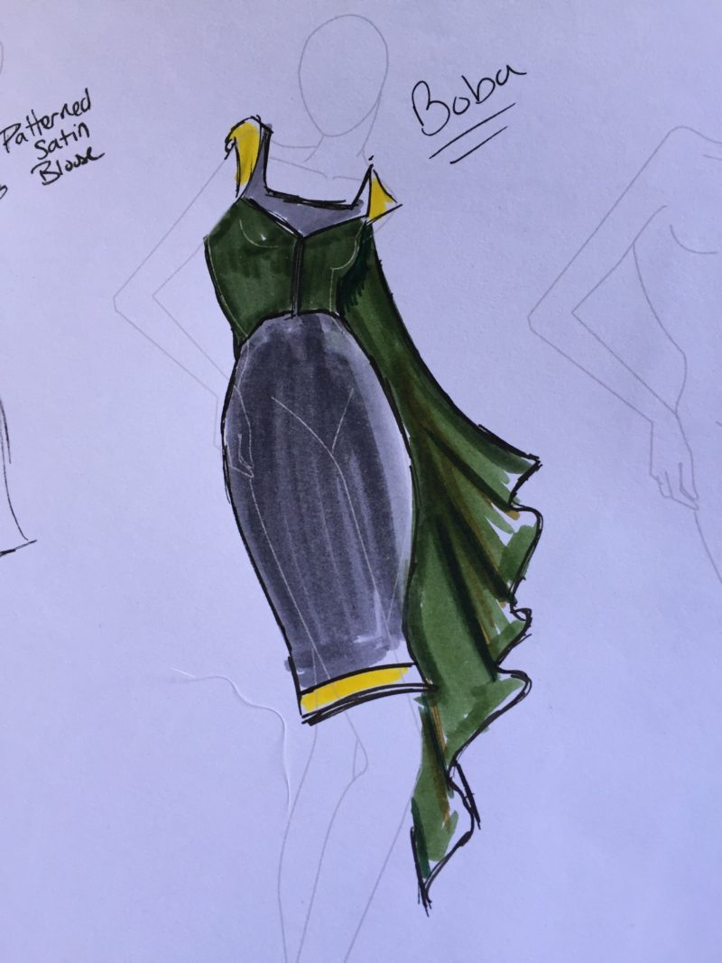 Elhoffer Design - Boba Fett dress concept sketch