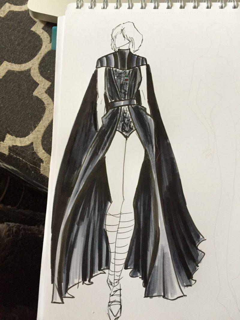 Elhoffer Design - Couture Vader concept sketch