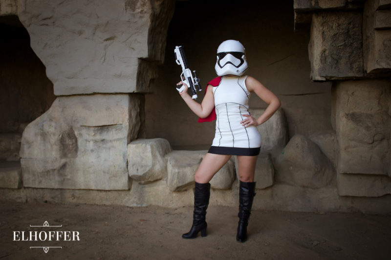 Elhoffer Design - Stormtrooper inspired dress (modelled by Sara Cimino)