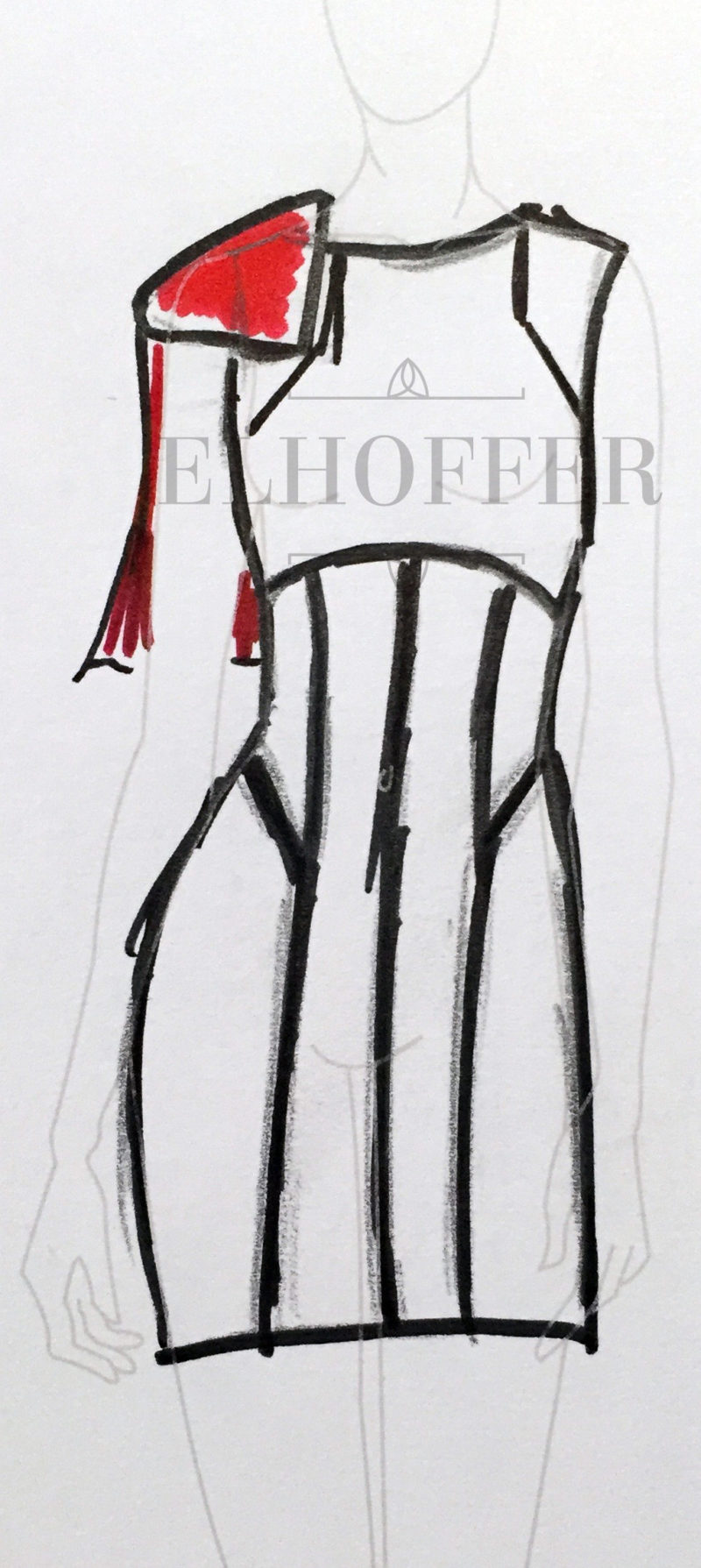 Elhoffer Design - Stormtrooper inspired dress concept sketch
