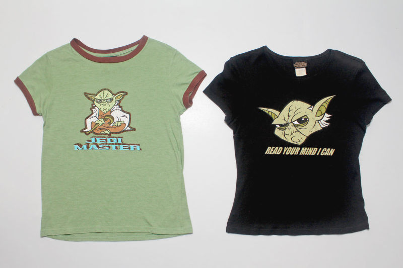 Women's Star Wars micro series Clone Wars Yoda t-shirts