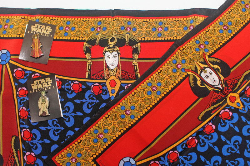 Ralph Marlin Queen Amidala silk scarves and Episode 1 pin