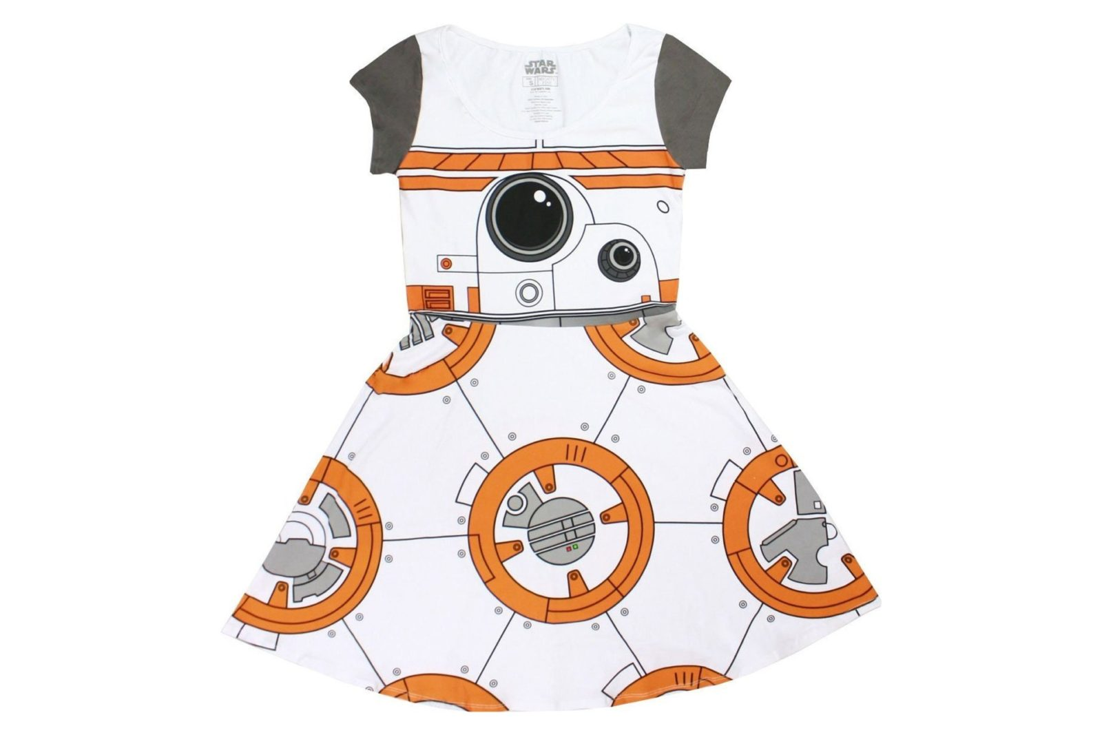 I Am BB-8 cap sleeve skater dress