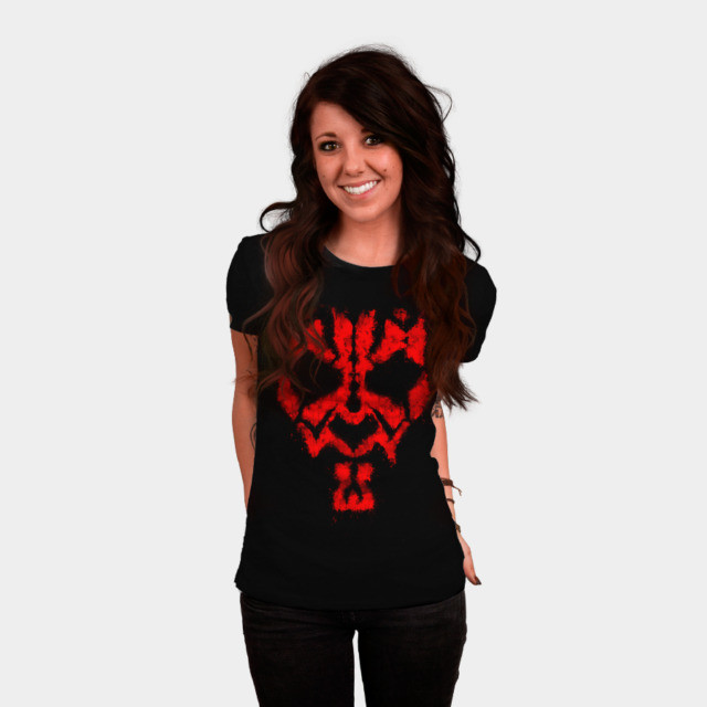 Women's Design By Humans x Star Wars Darth Maul t-shirt