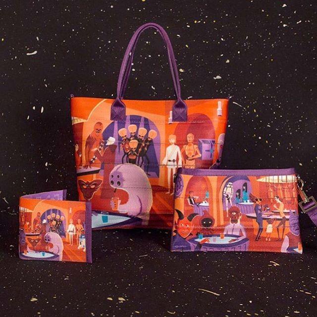 Harveys x Star Wars bags, featuring artwork by SHAG