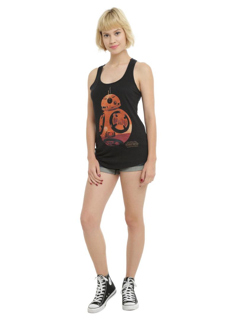 Hot Topic - women's BB-8 silhouette fill tank top