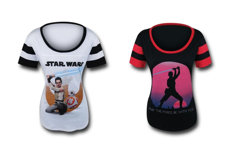 New Rey t-shirts at SuperHeroStuff