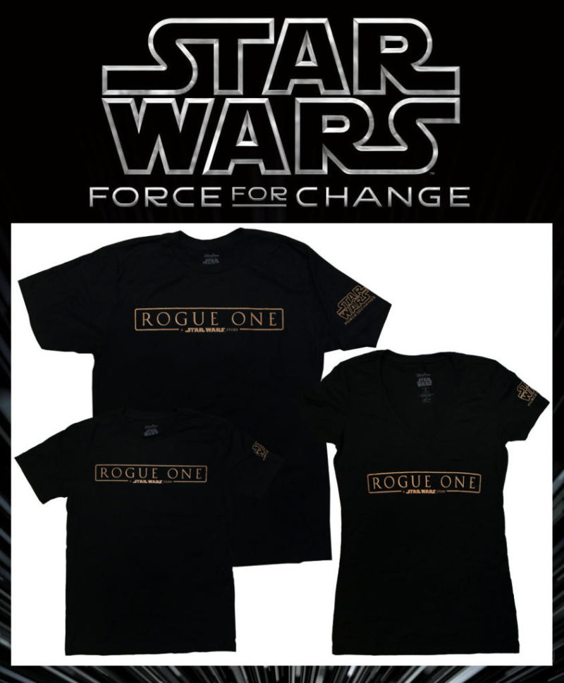 Star Wars Force For Change - Rogue One t-shirts