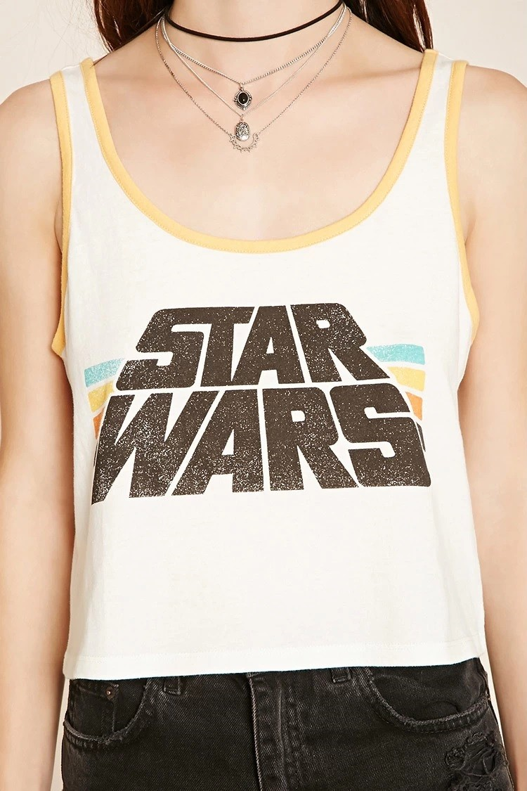 Forever 21 - women's Star Wars logo crop top