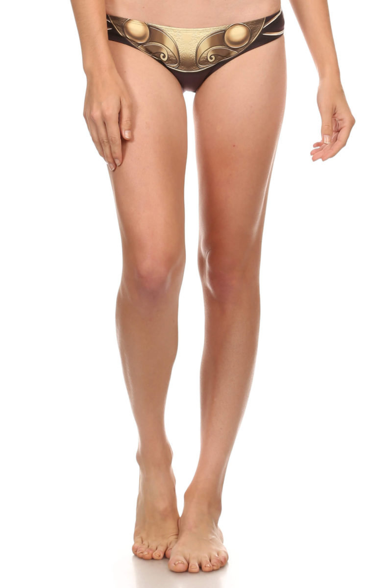 Poprageous - 'Gold Metal' metal bikini inspired Full Bikini bottom