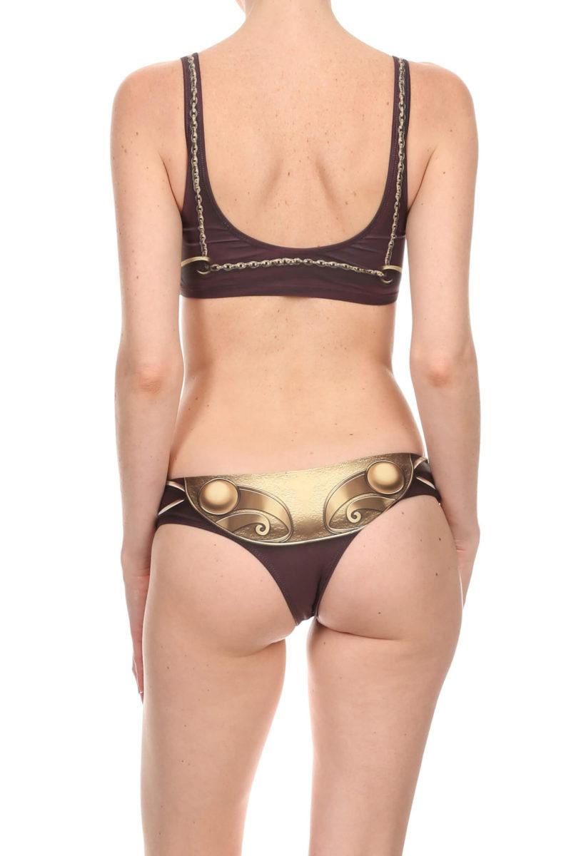 Poprageous - 'Gold Metal' metal bikini inspired swim top