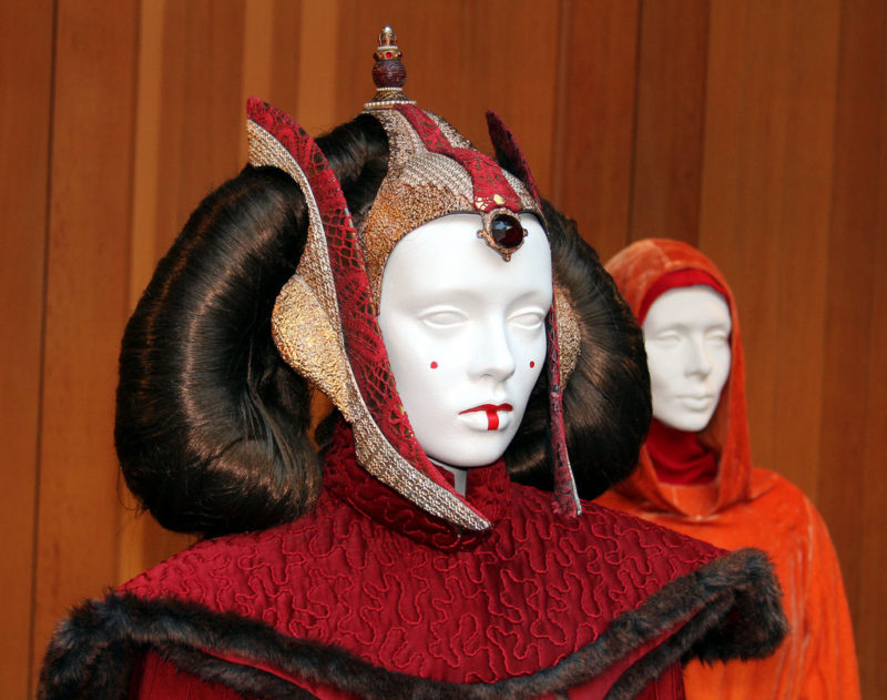 Skywalker Ranch - Queen Amidala costume on display