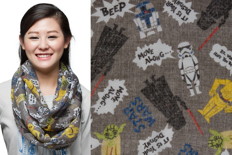 Star Wars conversation infinity scarf