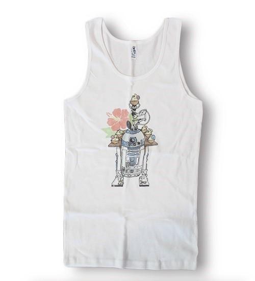 Beep Boop Beep Clothing - women's R2-D2's Tropical Hideaway muscle tank