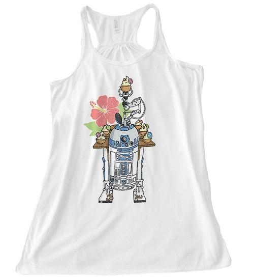 Beep Boop Beep Clothing - women's R2-D2's Tropical Hideaway tank top