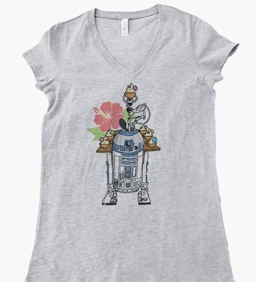 Beep Boop Beep Clothing - women's R2-D2's Tropical Hideaway tee