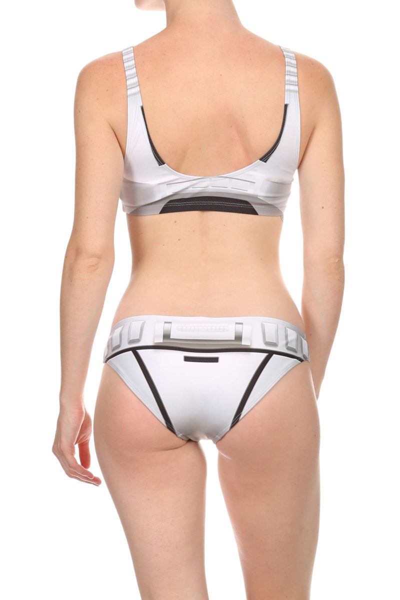 Poprageous - women's 2-piece White Robotic swimwear