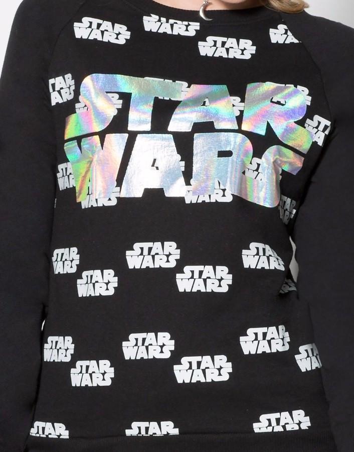 Spencers - women's Star Wars hologram sweatshirt