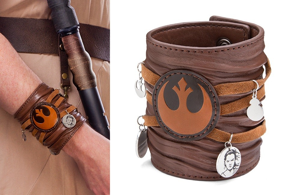 Rey leather cuff bracelet at Thinkgeek!