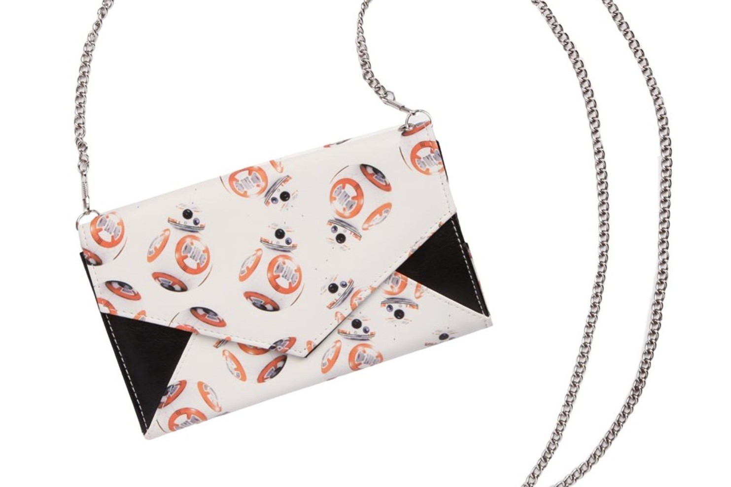 BB-8 envelope clutch with shoulder chain
