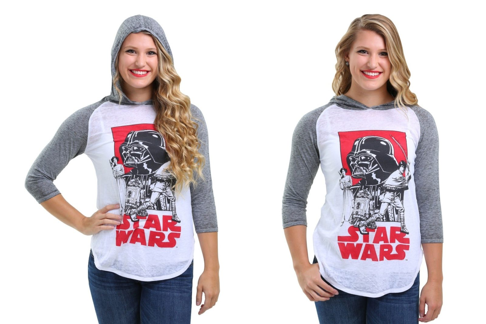 Women's Star Wars hooded raglan shirt