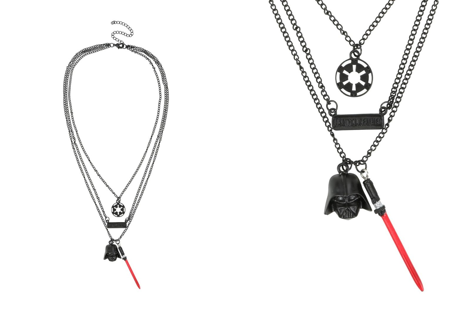 Darth Vader layered necklace at Hot Topic