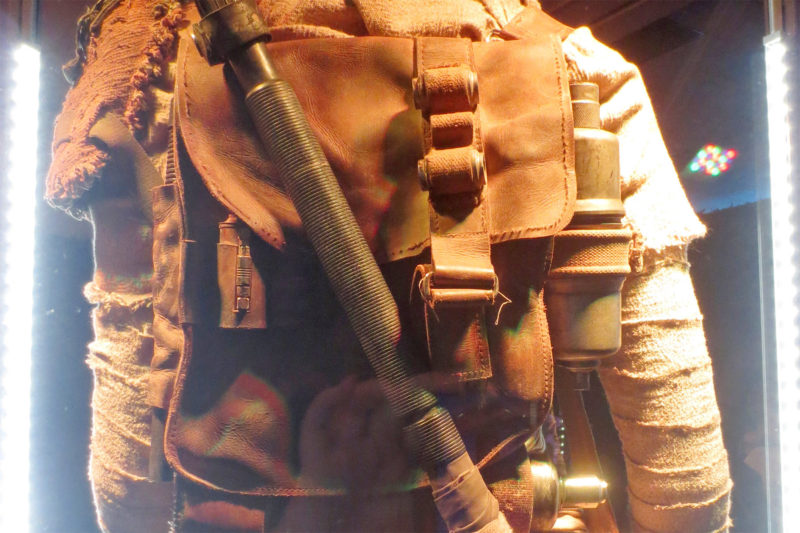 Screen used Rey backpack on display at Celebration Anaheim