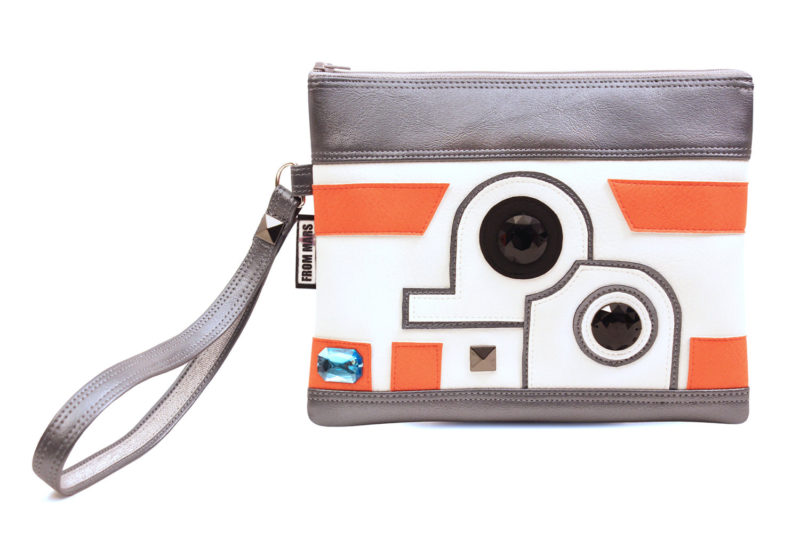 Sent From Mars - BB-8 inspired clutch bag with wristlet
