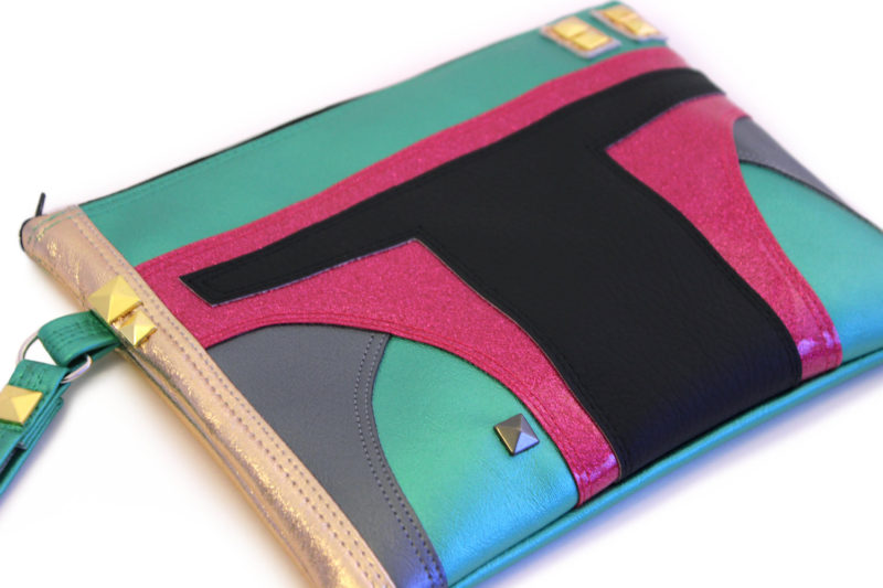 Sent From Mars - Boba Fett inspired clutch bag with wristlet