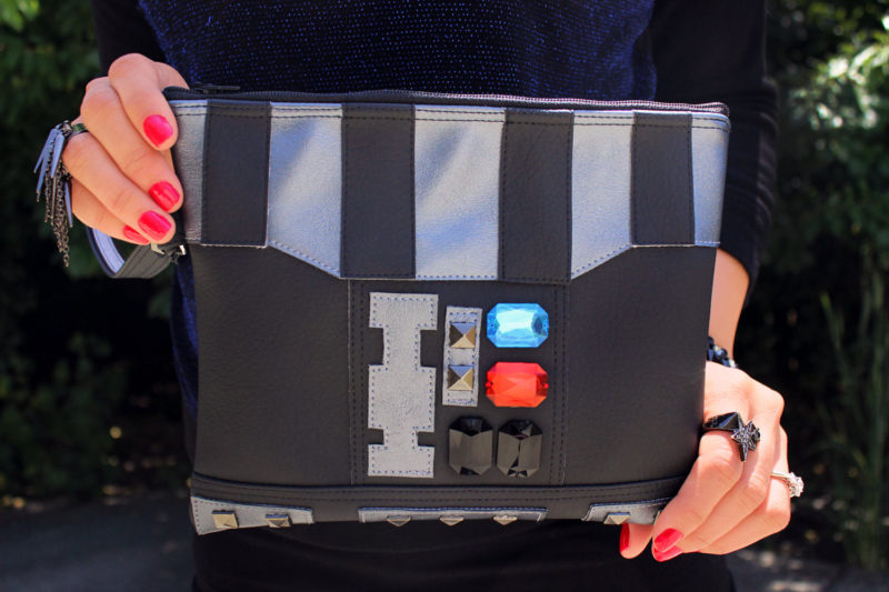 Sent From Mars - Darth Vader inspired clutch bag with wristlet