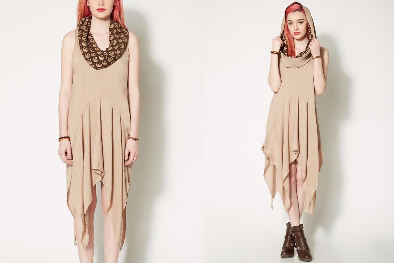 We Love Fine hooded Rey dress at Spencers