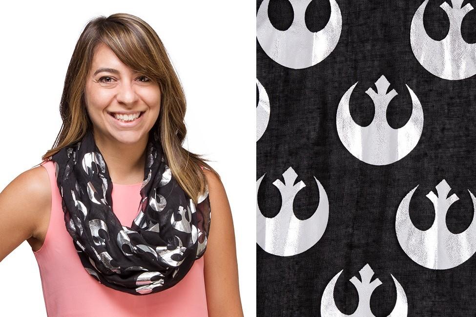 Thinkgeek - Rebel Alliance foil print infinity scarf