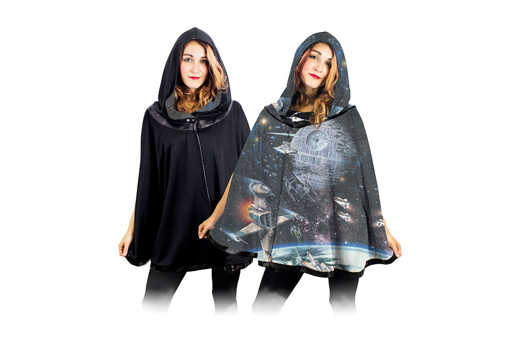 Star Wars Galaxy reversible cape at Thinkgeek