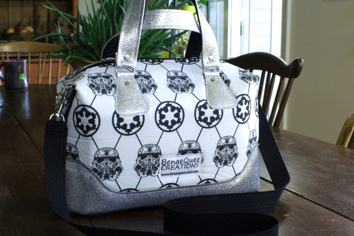 BenaeQuee Creations - Stormtrooper and Imperial Cog Convertible Handbag