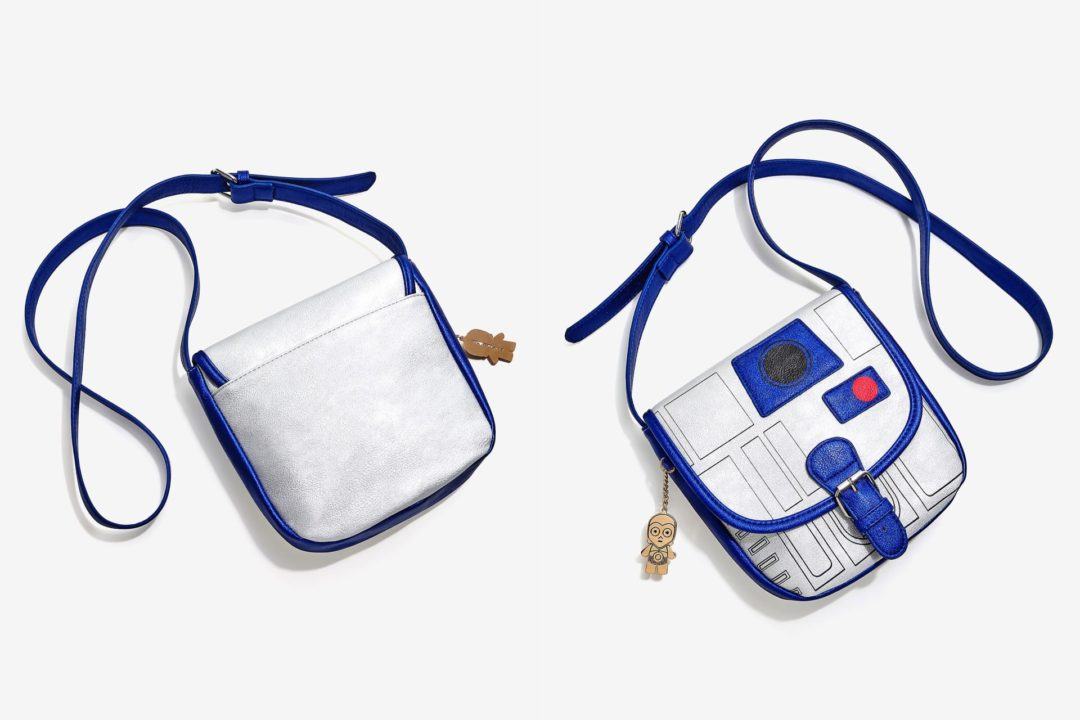 Box Lunch - Loungefly R2-d2 metallic mini saddle bag