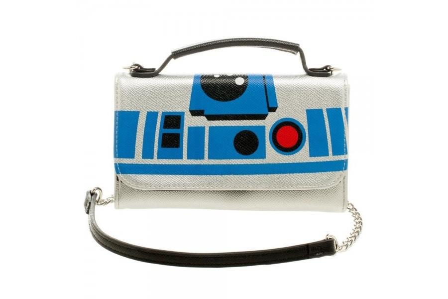Bioworld R2-D2 crossbody clutch wallet