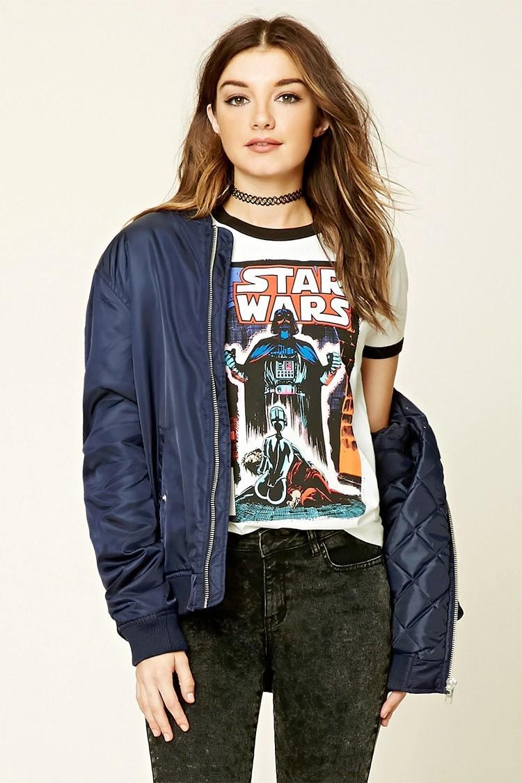 Forever 21 - women's Star Wars graphic ringer tee