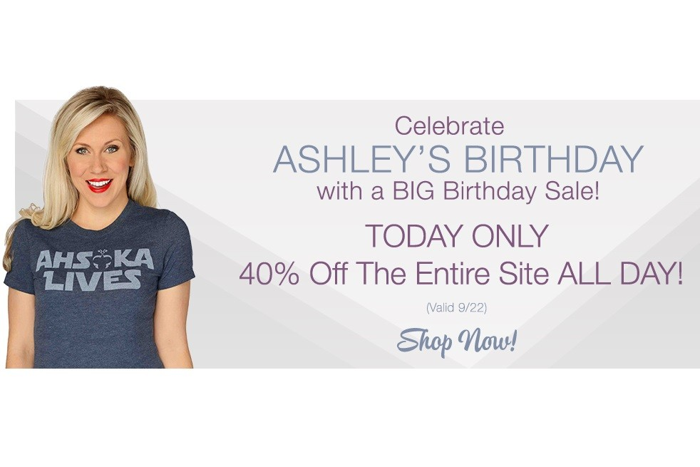 Her Universe - 40% off birthday sale 2016